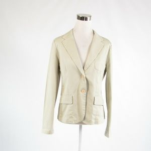 Izod beige denim long sleeve jacket M